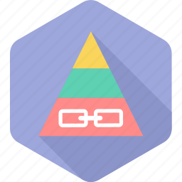 backlink, connect, link, network, triangle icon