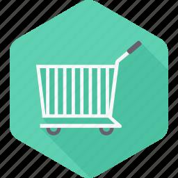 buy, cart, empty, market, sale, shop, trolley icon