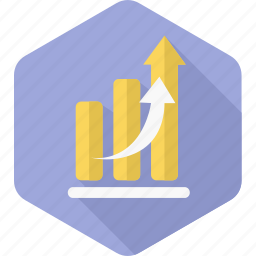 chart, graph, growth, quarterly, report, sale, sales icon