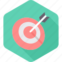aim, archery, dartboard, game, goal, sports, target icon