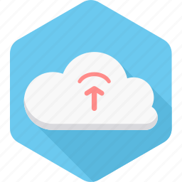 cloud, computing, database, file, server, storage, upload icon