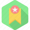 achievement, best, bookmark, rate, rating, star, top icon