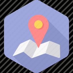 gps, location, map, navigation, page, seo, web icon