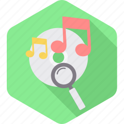 audio, multimedia, music, party, playing, search, song icon