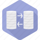 data, database, hosting, internet, server, storage, transfer icon