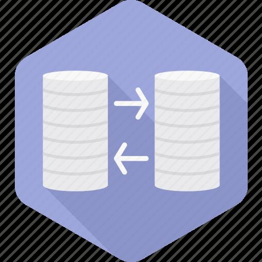 data, database, hosting, internet, server, storage, transfer icon