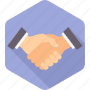 gesture, hand, handshake, interaction, meeting, partnership, shake icon
