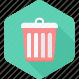 bin, cancel, delete, dustbin, remove, sign, trash icon