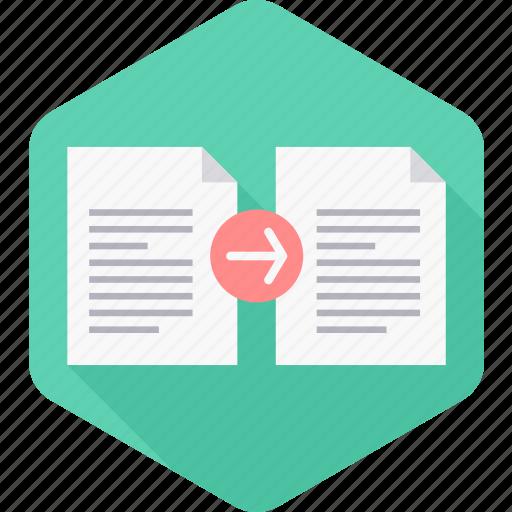 copy, document, file, page, paper, paste icon