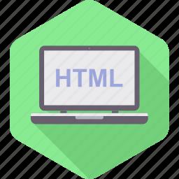 computer, html, language, technology icon