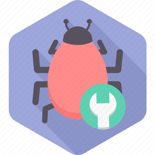 bug, configuration, fixing, security, settings, virus icon