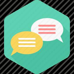 bubble, bubbles, chat, chatting, comment, message, talk icon