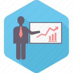 business, chart, graph, office, presentation, report icon