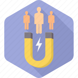 attract, group, integrate, magnet, people, user, users icon