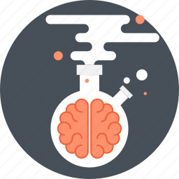 brain, brainstorm, chemistry, lab, laboratory, research, science icon
