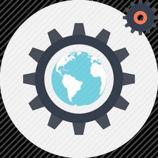 cogwheel, development, optimization, performance, seo, settings, web icon