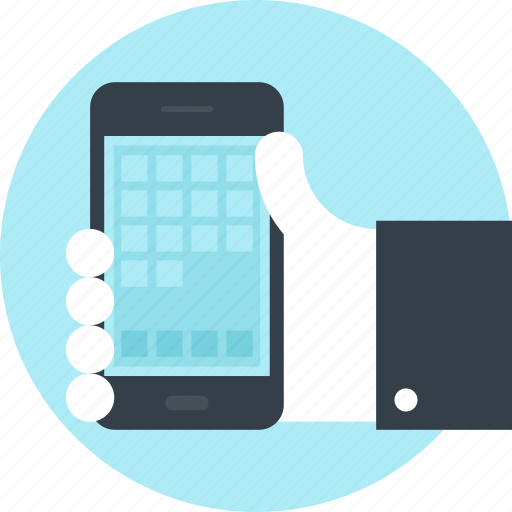 app, application, development, hand, mobile, phone, software icon
