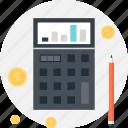 accounting, budget, calculator, chart, finance, math, money
