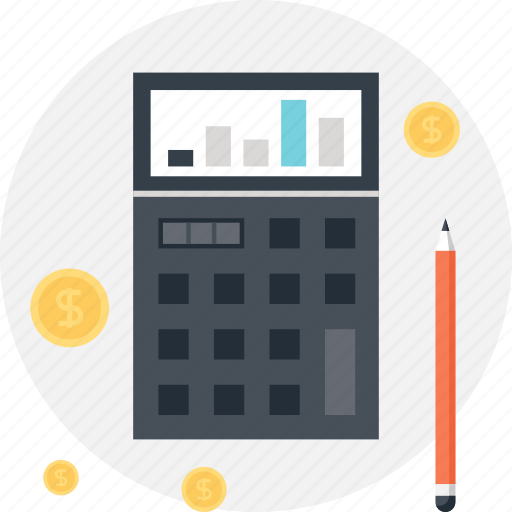accounting, budget, calculator, chart, finance, math, money icon