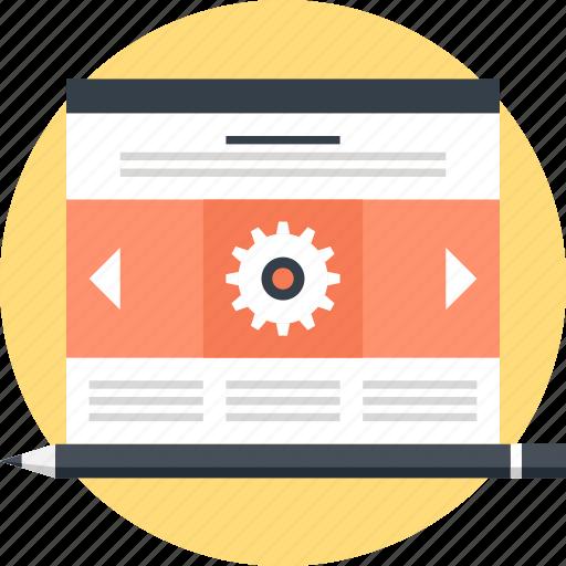 blog, design, development, layout, management, template, web icon