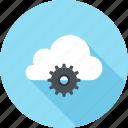 cloud, cogwheel, computing, hosting, internet, network, services