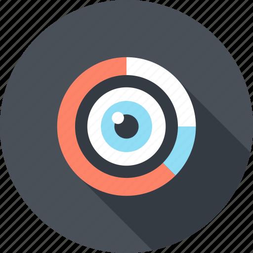analytics, chart, data, eye, graph, market, research icon