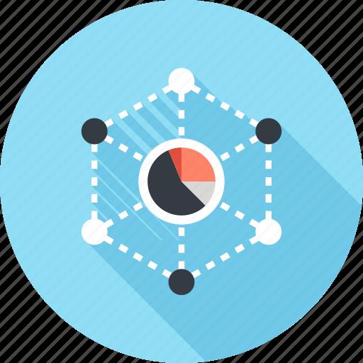 big, business, chart, data, graph, network, statistics icon