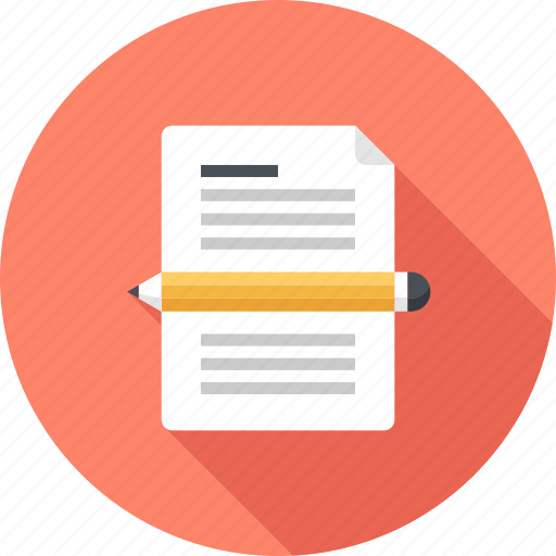 blog, copywriting, document, page, pencil, web, write icon