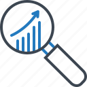 analysis, market, research, statistics icon