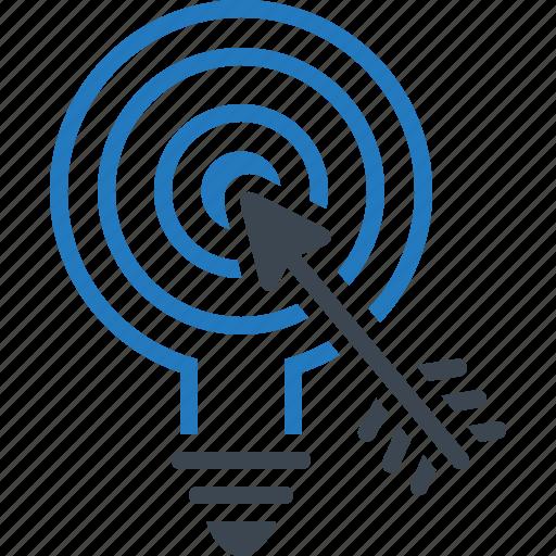goal, marketing, strategy, target icon