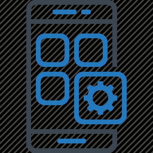 app, mobile, setting, smartphone icon