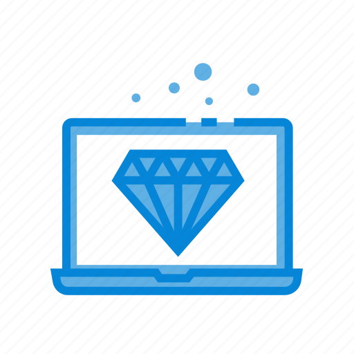 clean, code, computer, gem, technology icon