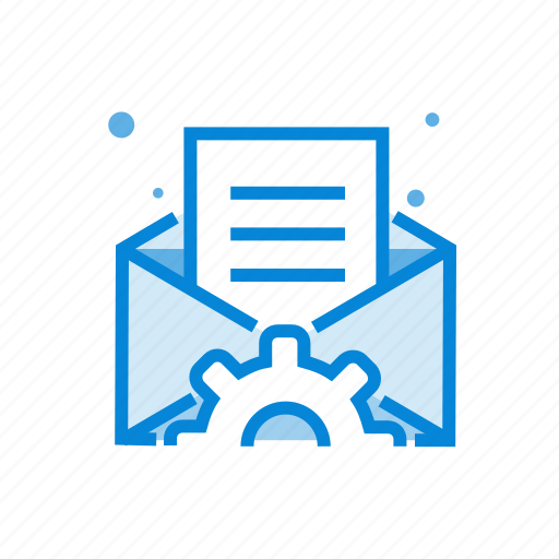 email, envelope, gear, message, optimization icon