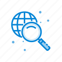 global, magnifier, search, solution icon