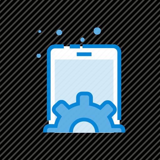 gear, mobile, optimization, screen, settings icon