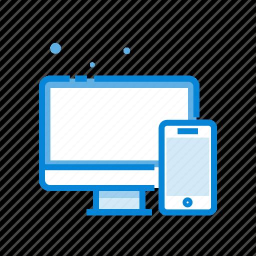 computer, design, phone, responsive, technology icon