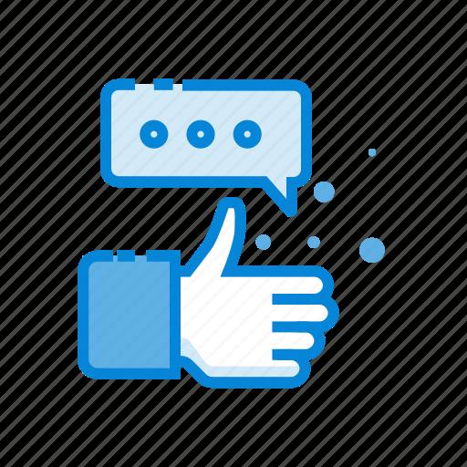 communication, media, network, social, thumb icon