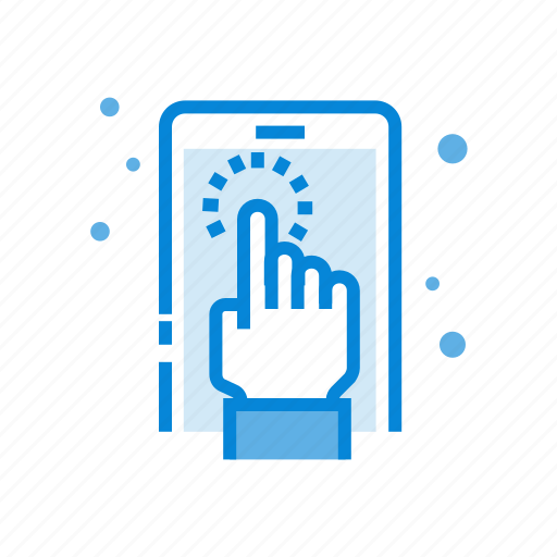 communication, device, hand, phone, screen, touch icon