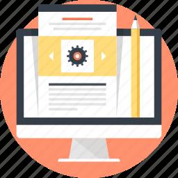 blog, communication, computer, design, development, management, web icon