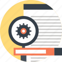 cogwheel, explore, magnifier, optimization, search, seo, web
