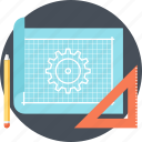 blueprint, concept, design, development, drawing, engineering, product