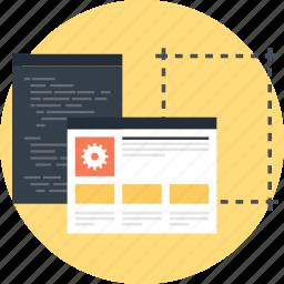 app, application, coding, design, development, program, web icon