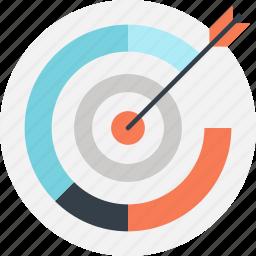 achievement, chart, goal, graph, marketing, success, target icon