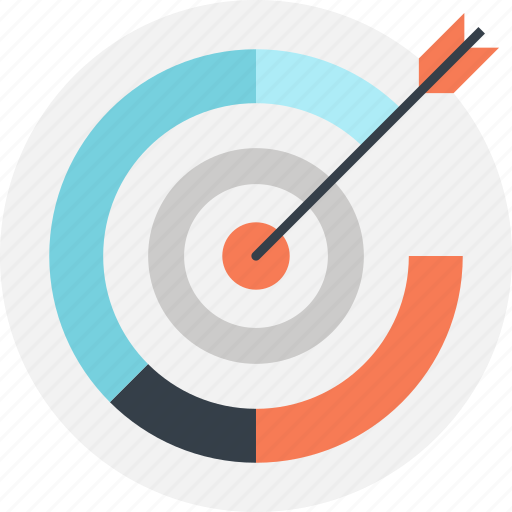 achievement, chart, goal, graph, marketing, success, target icon
