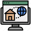 estate, home, homepage, houses, page, real, residential icon