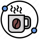 coffee, cup, food, mug, tea, time icon