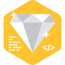 best, diamond, engine, optimization, search, seo icon