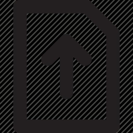 arrow, computing, file, up arrow, upload icon