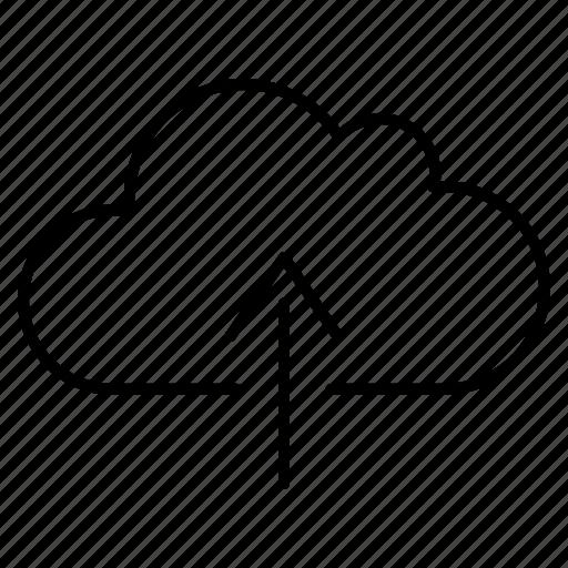 cloud, data, files, info, online, storage, upload icon