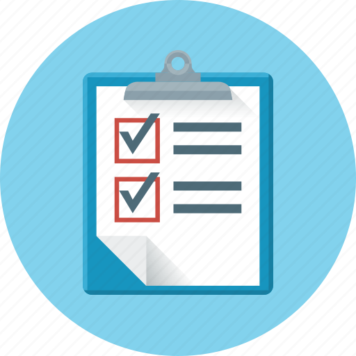 check, check mark, document, form, questionnaire, sample, test icon